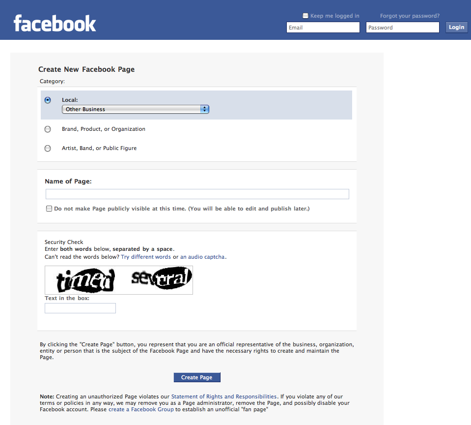 how to create new fb account