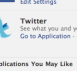 Twitter Application on Facebook