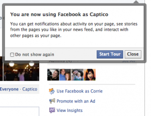 Use Facebook as Captico