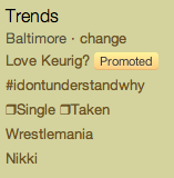 Twitter Trending Topics Baltimore