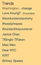 Twitter Trending Topics DC