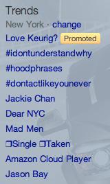 Twitter Trending Topics NY